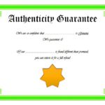 Authenticity Certificate Template 4