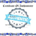 Authenticity Certificate Template 5