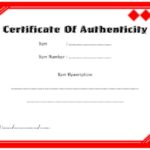 Authenticity Certificate Template 6