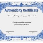 Authenticity Certificate Templates Free