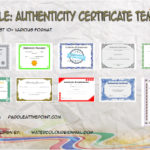 Authenticity Certificate Templates By Paddle