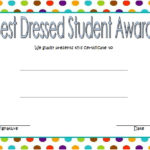 Best Dressed Certificate Template 1