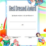 Best Dressed Certificate Template 2