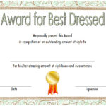 Best Dressed Certificate Template 6