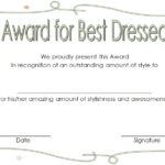 Best Dressed Certificate Template 7