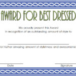 Best Dressed Certificate Template 8