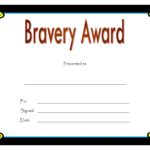 Bravery Award Certificate Template