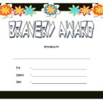 Bravery Award Certificate Template 2