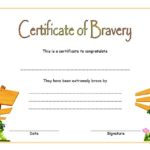 Bravery Award Certificate Template 4