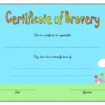 Bravery Award Certificate Template 5