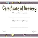 Bravery Award Certificate Template 6