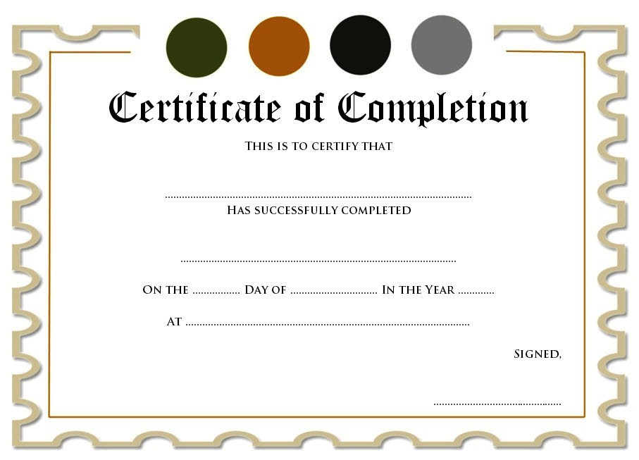 completion certificate editable completion certificate templates for word preschool completion certificate templates class