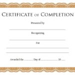 Completion Certificate Editable