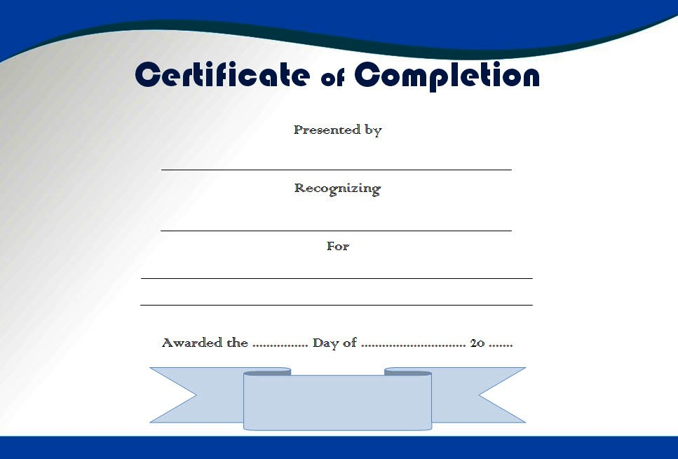 Completion Certificate Editable 10 Template Ideas