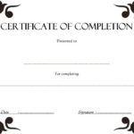 Certificate Of Completion Template 8