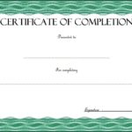 Certificate Of Completion Template 9