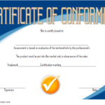 Conformity Certificate Template 1