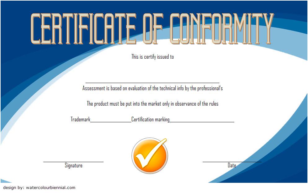 Conformity Certificate Template 1