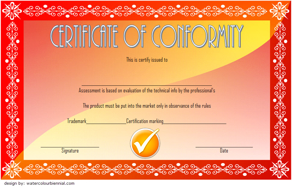 Conformity Certificate Template 2
