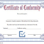 Conformity Certificate Template 3