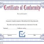 Conformity Certificate Template 3