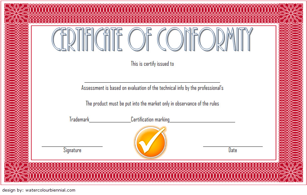 Conformity Certificate Template 4
