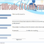 Conformity Certificate Template 5