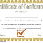 Conformity Certificate Template 6