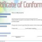 Conformity Certificate Template 7