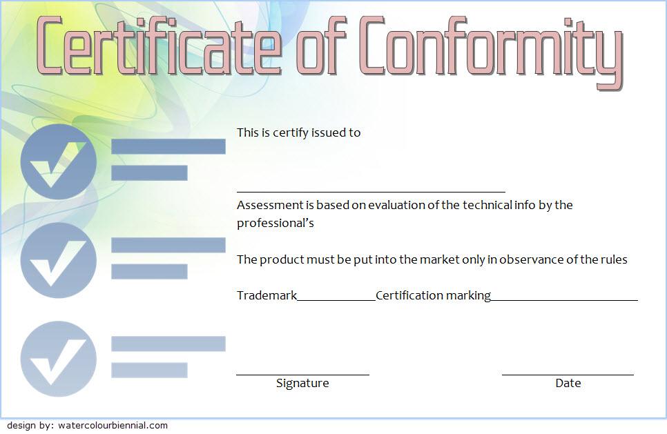 Conformity Certificate Template 7