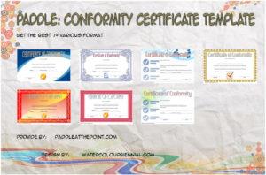Conformity Certificate Template