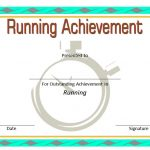 Editable Running Certificate