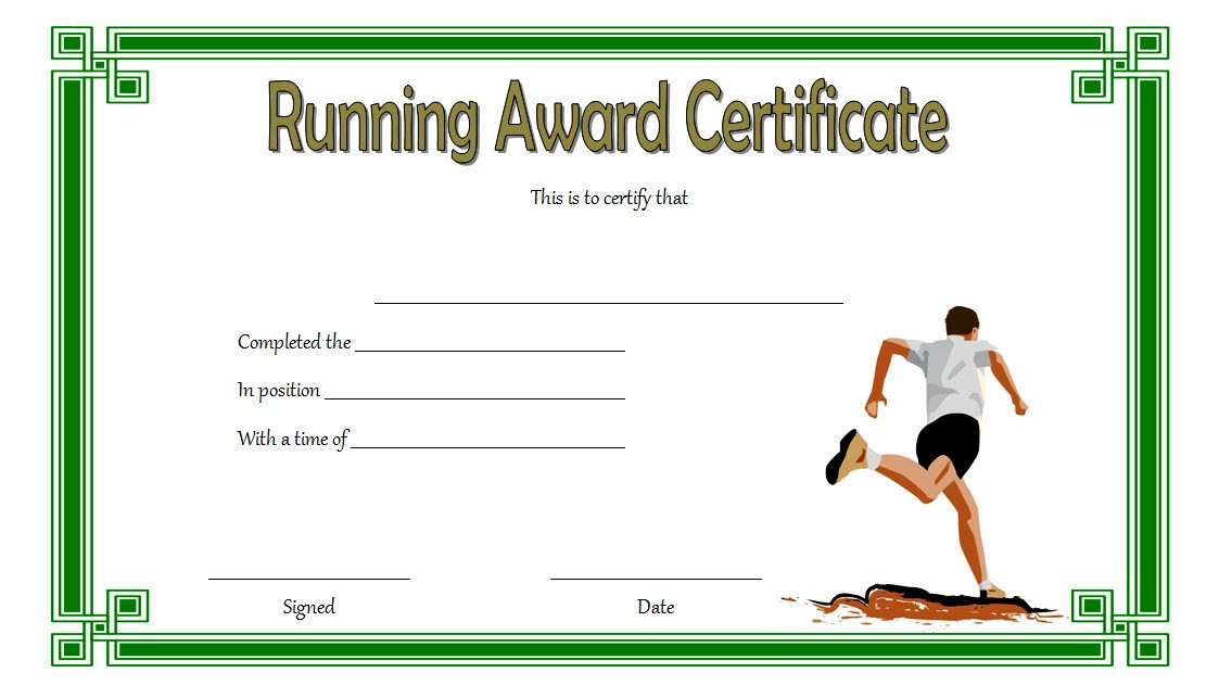 Editable Running Certificate - 10+ Best Options