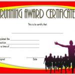 Editable Running Certificate 5