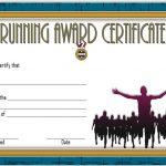 Editable Running Certificate 6