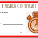 Finisher Certificate Template – 7+ Best Ideas