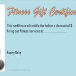 Fitness Gift Certificate Template 1