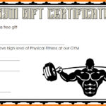 Fitness Gift Certificate Template