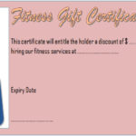 Fitness Gift Certificate Template 2