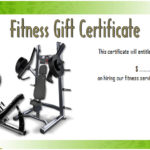 Fitness Gift Certificate Template 3