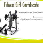 Fitness Gift Certificate Template 4