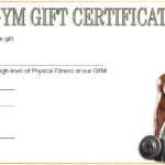 Fitness Gift Certificate Template 9