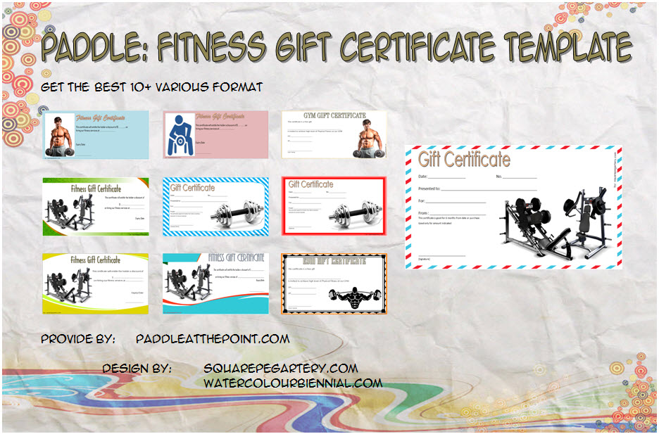 Get 10+ best of Fitness Gift Certificate Template for gym membership, personal training with Anytime, Planet, Lifetime, Blink designs!