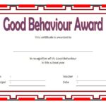 Good Behaviour Award Certificate 1