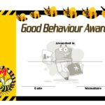 Good Behaviour Award Certificate 3