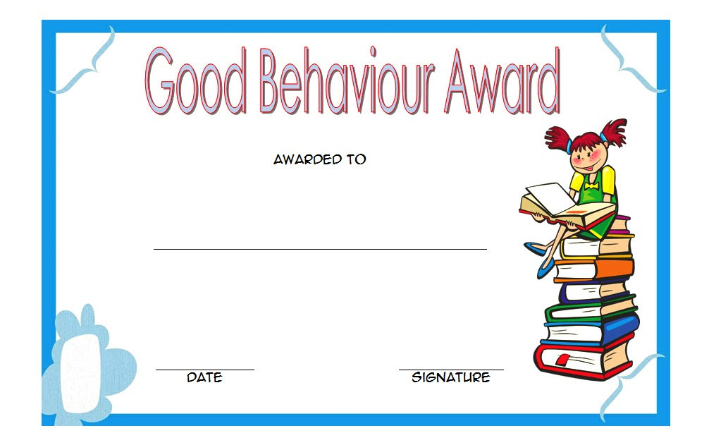 Good Behaviour Award Certificate 5