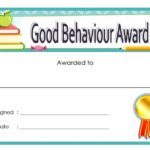 Good Behaviour Award Certificate 6