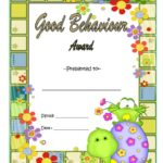 Good Behaviour Award Certificate 9
