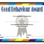 Good Behaviour Certificate Template