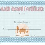 Math Award Certificate Template 2